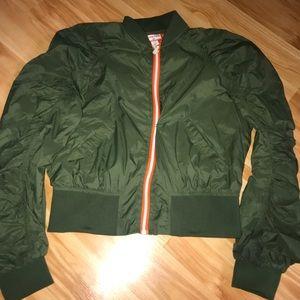 Hunter for Target Green Puffy Raincoat like new